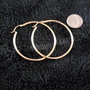 Jewelry - 14 KARAT YELLOW GOLD HOOPS